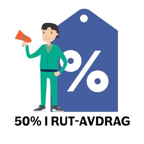 50% i RUT - dra nätverkskabel