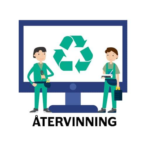 återvinning - dra nätverkskabel